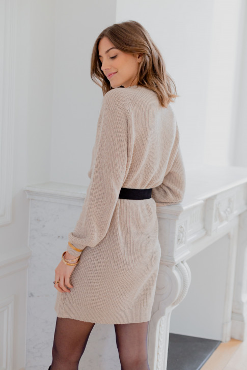Beige Alice sweater dress