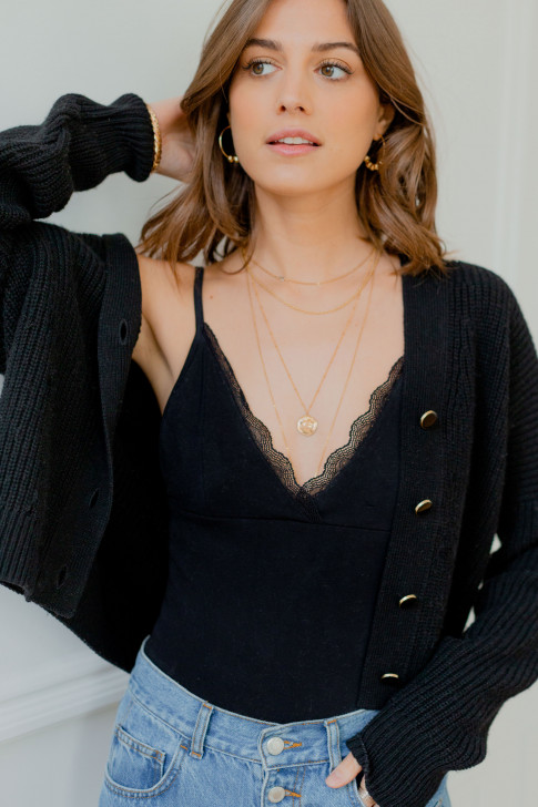 Black Sofia bodysuit