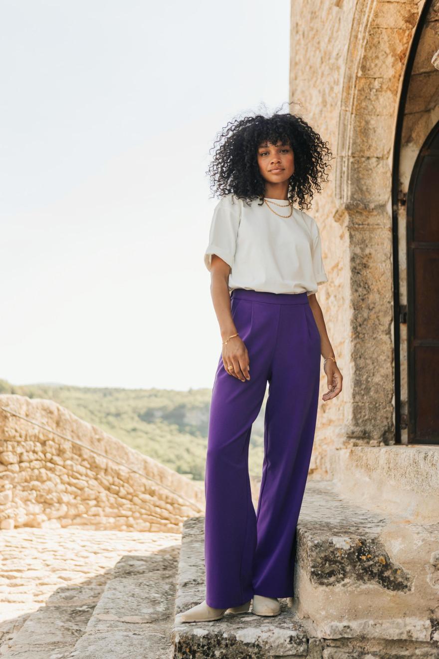 Adeline burgundy floral print skirt