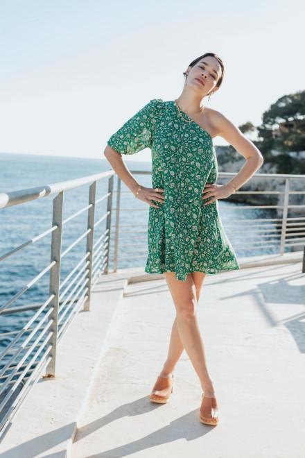 Lucie Amazon print dress