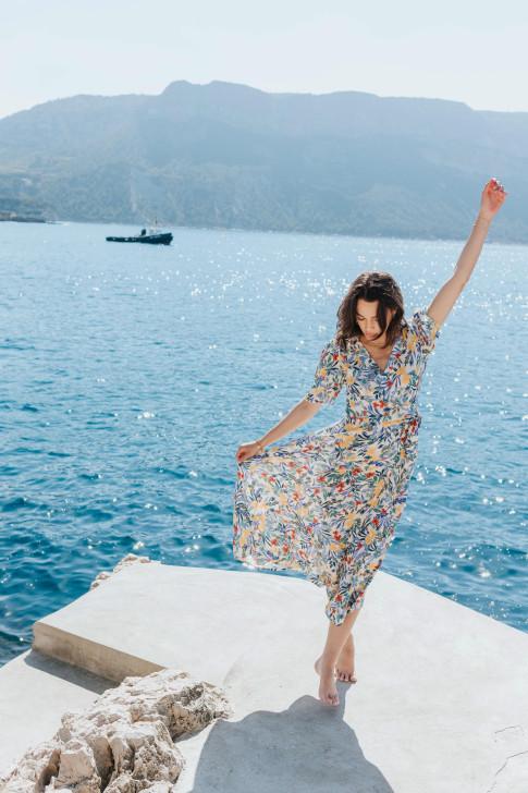 Flore ecru shells sweater