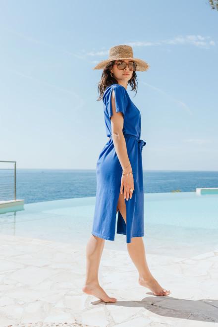 Clara blue striped shirt