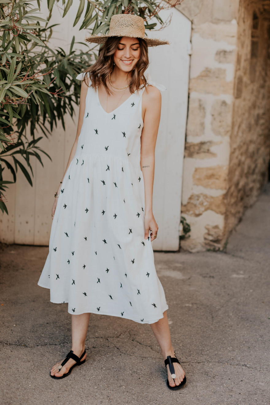 Alexandra bird print dress