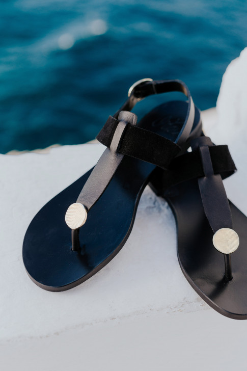 Athena black sandals