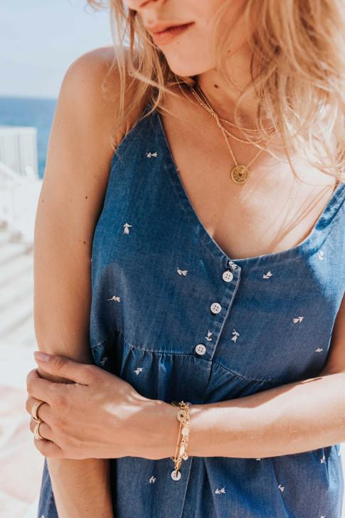 Romane blue shorts