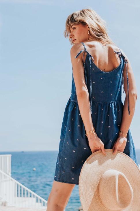 Adeline Indian flower print skirt