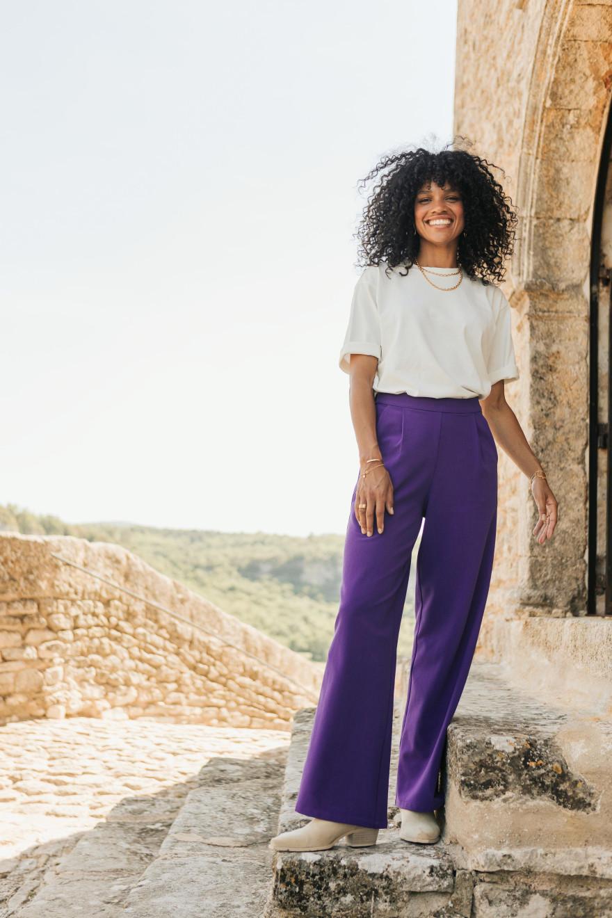 Leila cashmere print scarf
