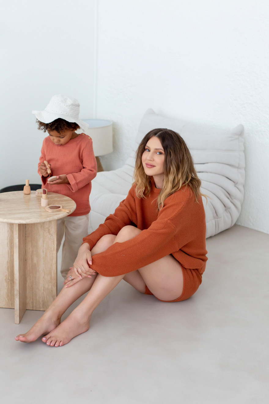 Camille terracotta sweatshirt