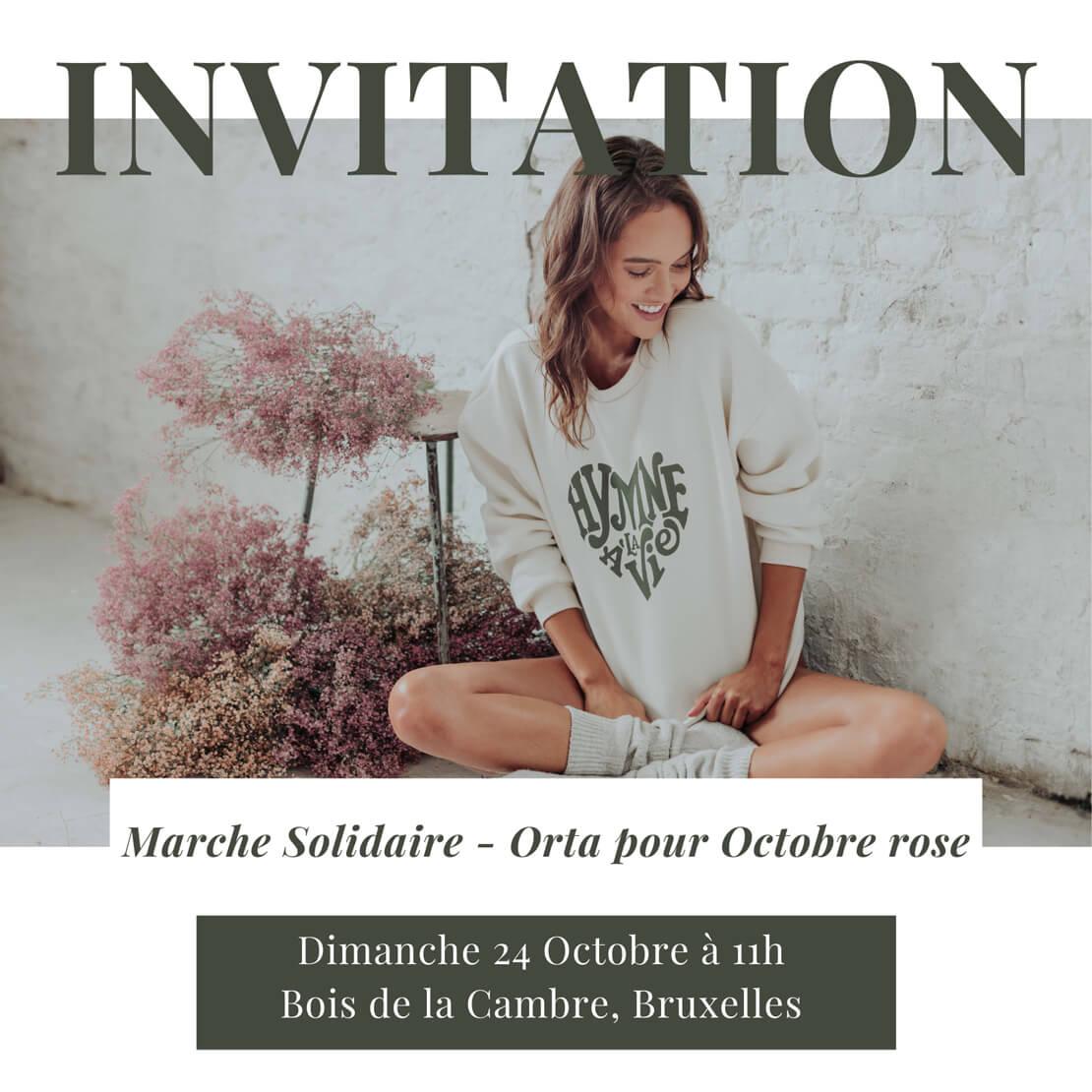 Invitation à notre marche solidaire